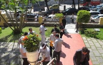 Eleição botafogo carro de som general severiano (Foto: Fábio leme / Globoesporte.com)