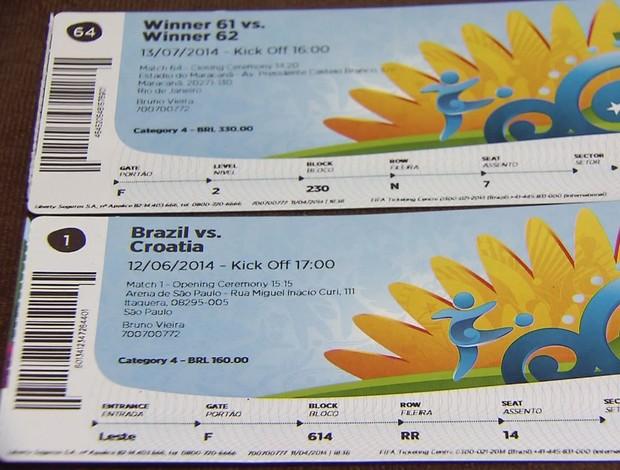 Ingressos Copa do Mundo abertura final (Foto: Reprodução / TV Tribuna)