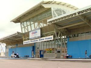 Aeroporto Regional Presidente Itamar Franco Goianá Rio Novo (Foto: Reprodução/TV Integração)