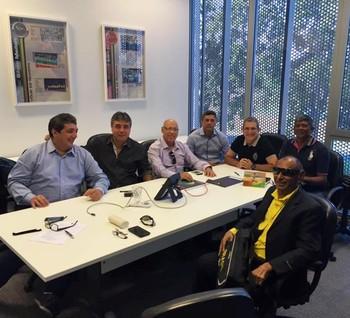 Dirigentes de federações de vôlei da região Norte em reunião na CBV (Foto: Feav/Divulgação)