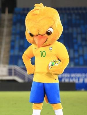 Canarinho mascote da seleção brasileira (Foto: Lucas Figueiredo/CBF)