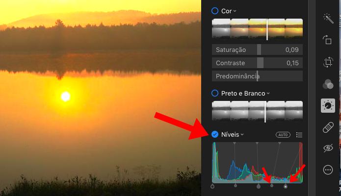 Controle o brilho de áreas específicas da foto em Níveis (Foto: Reprodução/Paulo Alves)