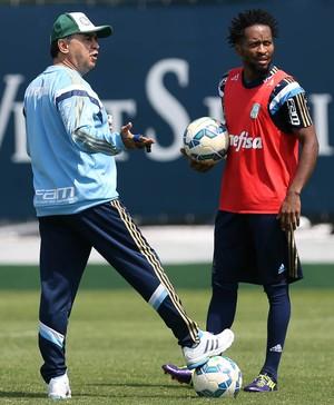 Marcelo Oliveira zé Roberto Palmeiras (Foto: Cesar Greco/Ag Palmeiras/Divulgação)