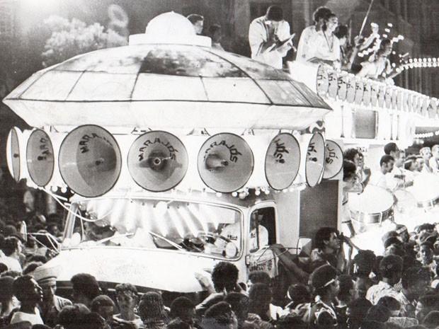 Trio elétrico Marajós (Foto: Divulgação/Livro História do Carnaval da Bahia - 130 Anos do Carnaval de Salvador)