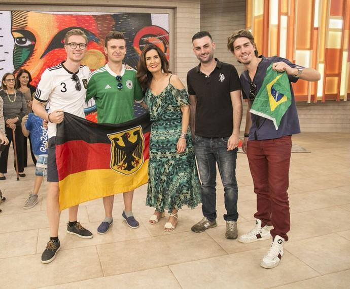 Estrangeiros que estão no Rio por causa da Olimpíada  (Foto: Raphael Dias/Gshow)