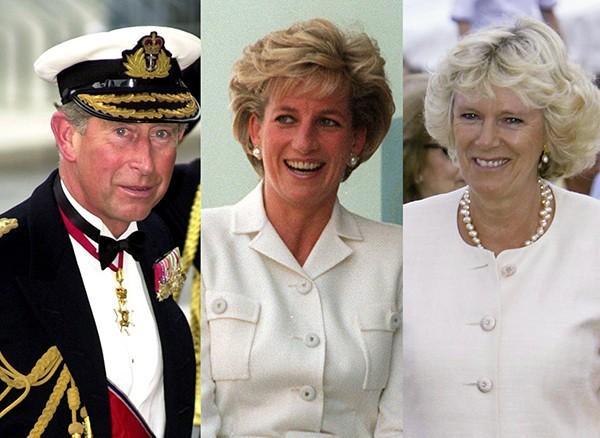 Príncipe Charles, Lady Di e Camilla Parker (Foto: Getty Images)