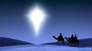 Representações mais comuns dos três reis magos mostram estrela de Belém como cometa (Foto: BBC)