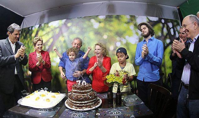 Lula, durante a festa dos seus 70 anos (Foto: Ricardo Stuckert / Instituto Lula)