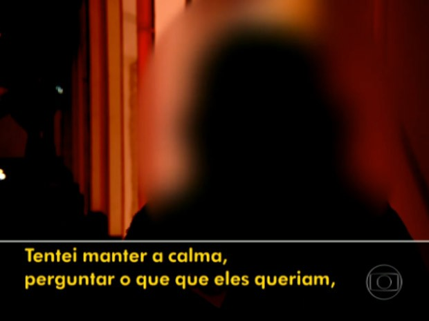 Professora sequestrada fala sobre o contato com os menores (Foto: TV Globo/Reprodução)