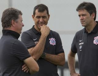 Walmir Cruz, Fábio Carille e Leandro da Silva (Cuca), Corinthians (Foto: Daniel Augusto Jr/Ag. Corinthians)