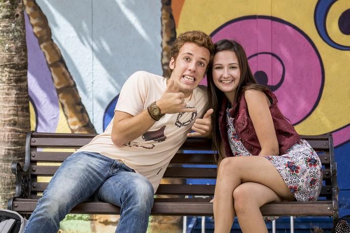 Nanda e Peppino já viraram um casal <3 (Foto: Ellen Soares/Gshow)