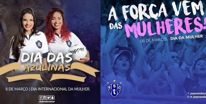 Dupla Re-Pa faz homenagem às torcedoras no Dia Internacional da Mulher (Foto: Divulgalção)
