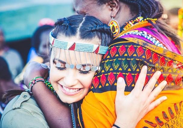 Demi Lovato no Quênia, na África (Foto: Reprodução/Instagram)
