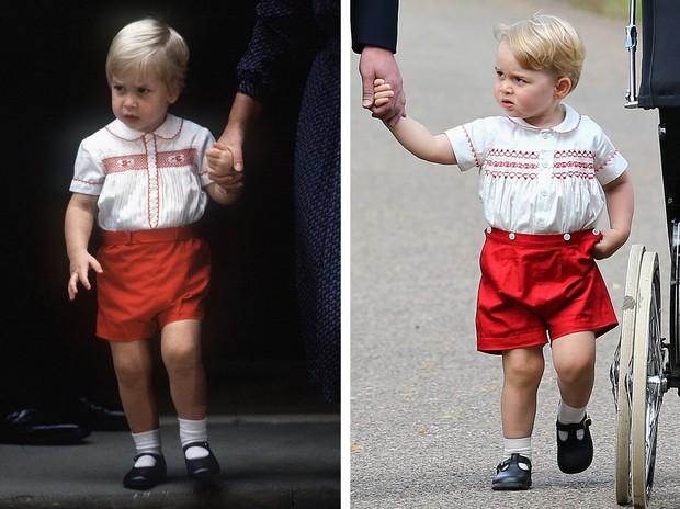 George usou uma roupa similar a que foi usada por seu pai, Príncipe William, na infância  (Foto: Getty Images)