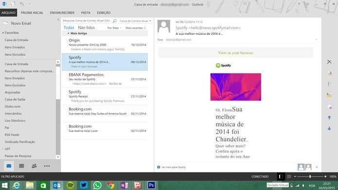 Office 365 traz Publisher e versão completa do Outlook, ausentes no pacote online da Microsoft (Foto: Reprodução/Elson de Souza)