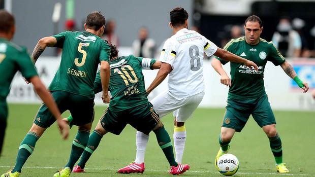 Santos e valdivia bruno Cesar  Palmeiras (Foto: Marcos Ribolli / Globoesporte.com)