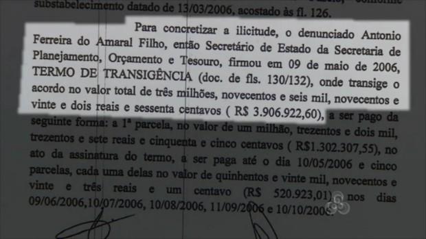 Marcos Reategui teria recebido parte do dinheiro do crédito devido pelo governo (Foto: Reprodução/TV Amapá)