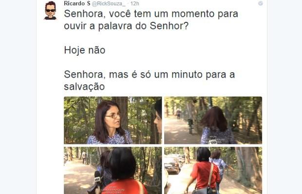 Internauta faz piada com resposta de servidora da Assembleia Legislativa de Goiás (Foto: Reprodução/ Twiter)