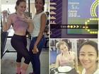 Ex-BBB Paulinha posta foto de barriga de fora na academia