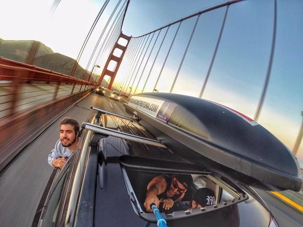 Caio Castro embarca em viagem de carro com os amigos da Califórnia, nos Estados Unidos, até o Brasil (Foto: Reprodução/Instagram)