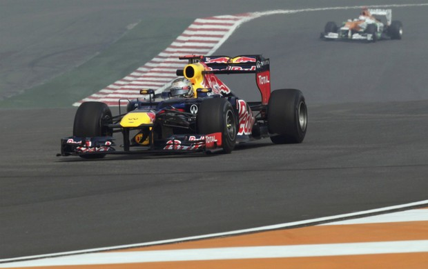 Sebastian Vettel, treino para GP da Índia (Foto: Reuters)