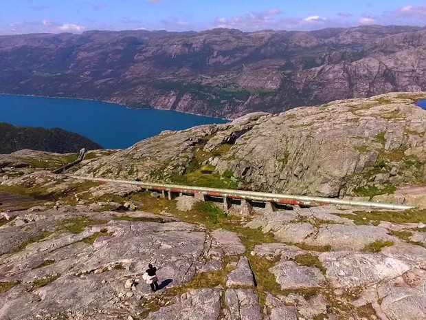 As belas paisagens da Noruega (Foto: TV Globo)
