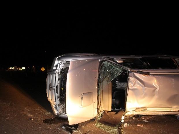 Acidente entre veículos deixa quatro feridos na 163 em Campo Grande (Foto: Gabriela Pavão/G1 MS)