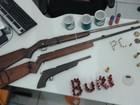 Homem é preso com armas e munição em Buritizeiro, MG
