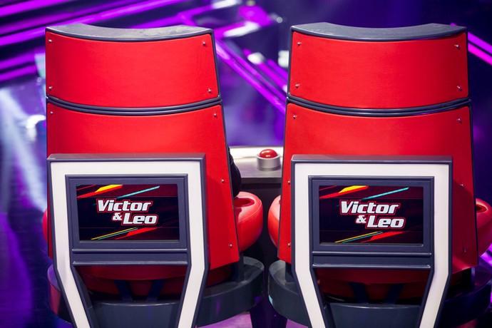 Técnicos Victor & Leo estreiam em cadeira dupla no The Voice Kids (Foto: Isabella Pinheiro/Gshow)