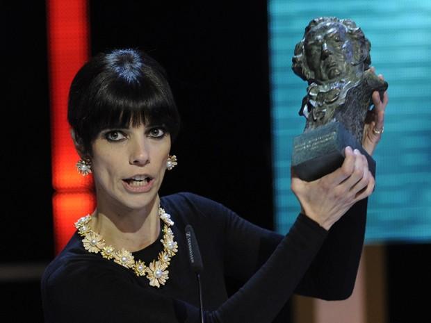 Maribel Verdu ganhou o prêmio de melhor atriz no Goya por atuação em 'Blancanieves' (Foto: Eduardo Dieguez/AFP)