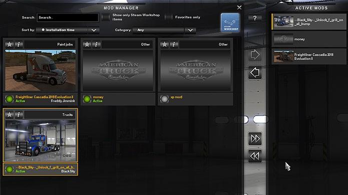 Coloque os mods na aba Active Mods para ativá-los no jogo (Foto: Reprodução/Tais Carvalho)