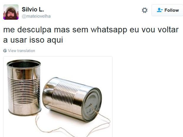 Piada com bloqueio do Whatsapp no Brasil (Foto: Reprodução/Twitter/Rihannanobrasil/mateiovelha)