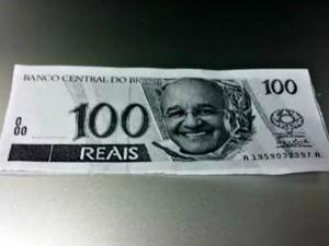 Notas tinham o rosto de Melo impresso nas cédulas falsas (Foto: Adneison Severiano/G1 AM)