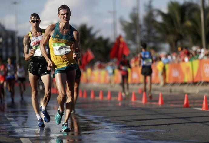 Dane Bird-Smith marcha atlética olimpíada rio 2016 (Foto: REUTERS/Sergio Moraes)