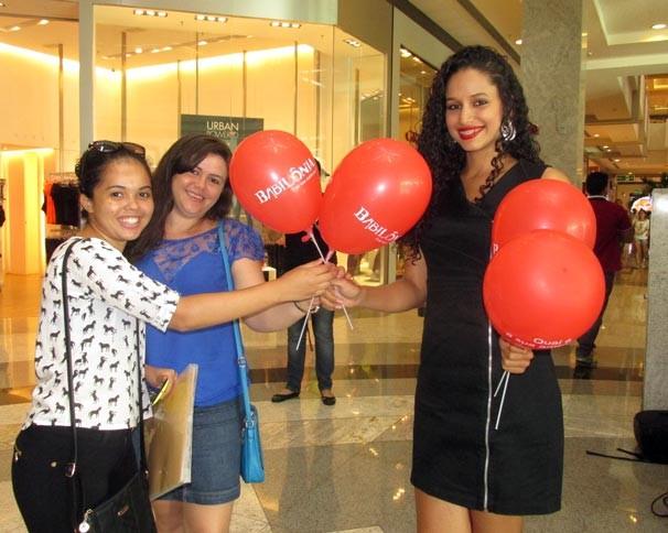 Ação no Teresina Shopping marcou o lançamento de Babilônia (Foto: Katylenin França/TV Clube)