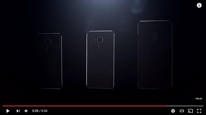 Trailer mostrou que ZenFone 3 terá três versões (Reprodução/ Youtube)