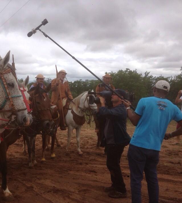 Gravando no sertão da Bahia (Foto: Divulgação)