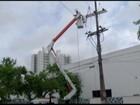 Fio de alta tensão se rompe e invade ciclovia de Campos, no RJ