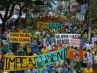 Manifestantes da região de Campinas fazem ato pró-impeachment