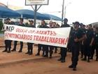 Agentes prisionais protestam em MT após denúncia de agressão a detento