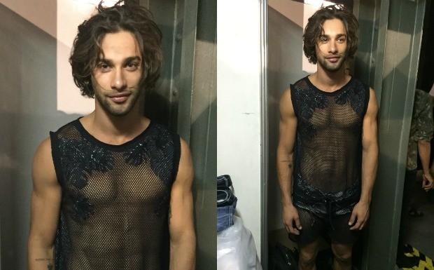 Backstage Blue Man - Pablo Morais (Foto: Isabela Dias)