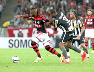 Luiz Antonio jogo Flamengo x Botafogo (Foto: Gilvan de Souza / FlaImagem)