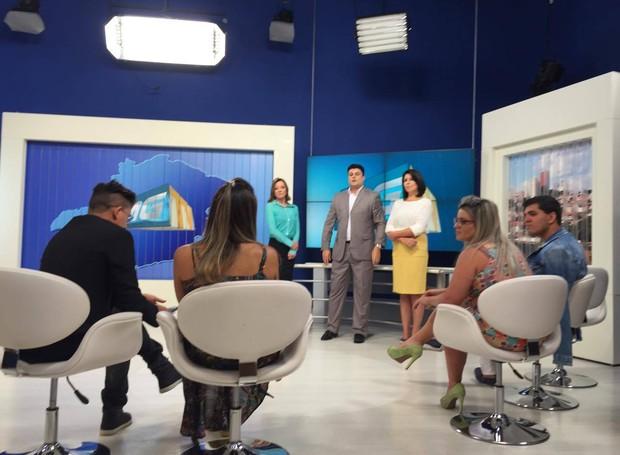 Blogueiros conversaram com os apresentadores (Foto: Raul Neto)