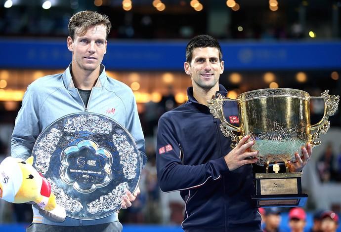 Novak Djokovic e tomas Berdych, China (Foto: Getty Images)
