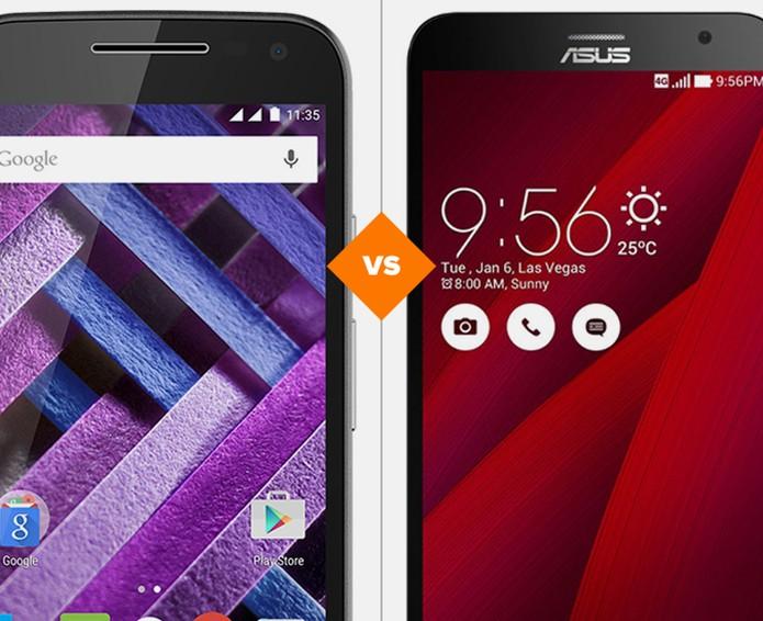 Moto G 3 ou Zenfone 2: confira quem vence o comparativo (Foto: Arte/TechTudo)