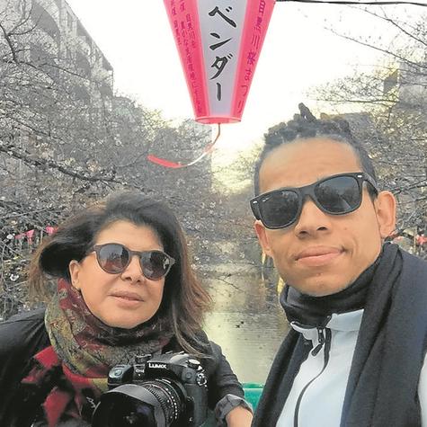 Cristina Aragão e o cinegrafista Sandiego Fernandes  (Foto: Divulgação)
