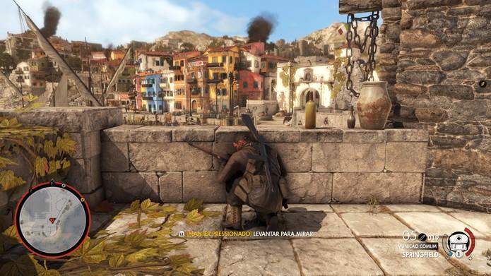 Sniper Elite 4 tem modo multiplayer variado  (Foto: Reprodução/Diego Borges)