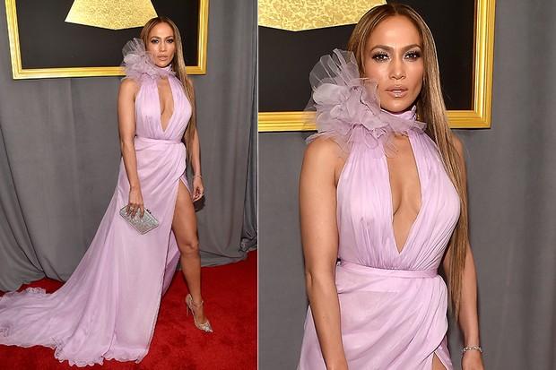 Jennifer Lopez no Grammy (Foto: Agência AFP)