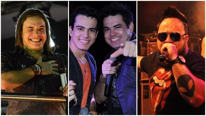Wesley Safadão, Luiz Marcelo e Gabriel e Thiago Farra esquentam sua semana. (Foto: Divulgação)