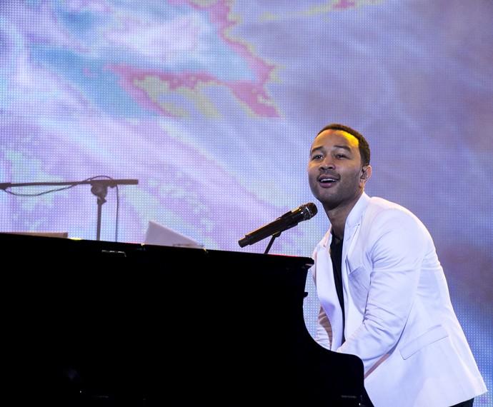 John Legend no Palco Sunset (Foto: Ellen Soares/Gshow)